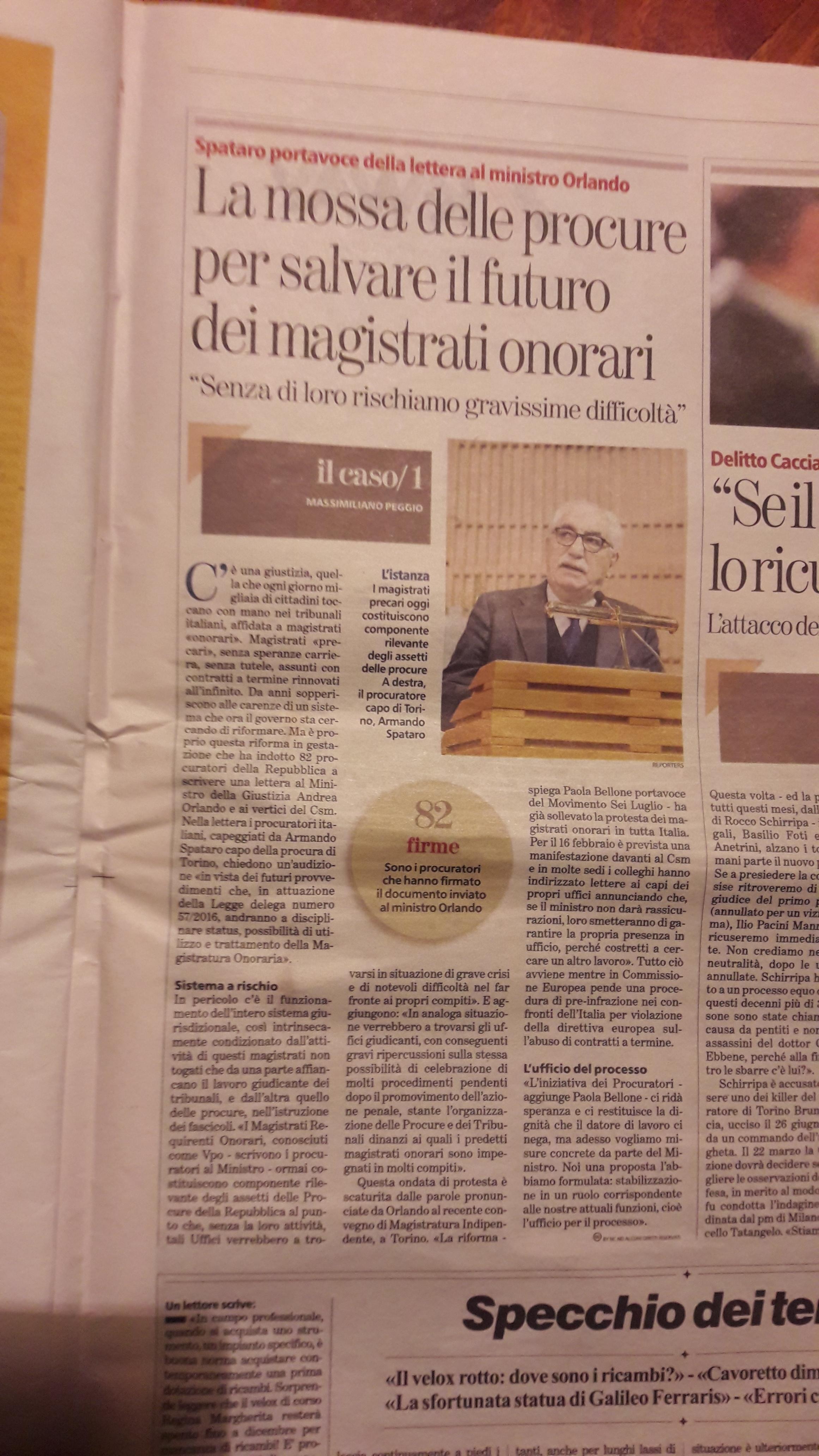 Stampa di Torino 9 febbraio 2017 ESCAPE='HTML'